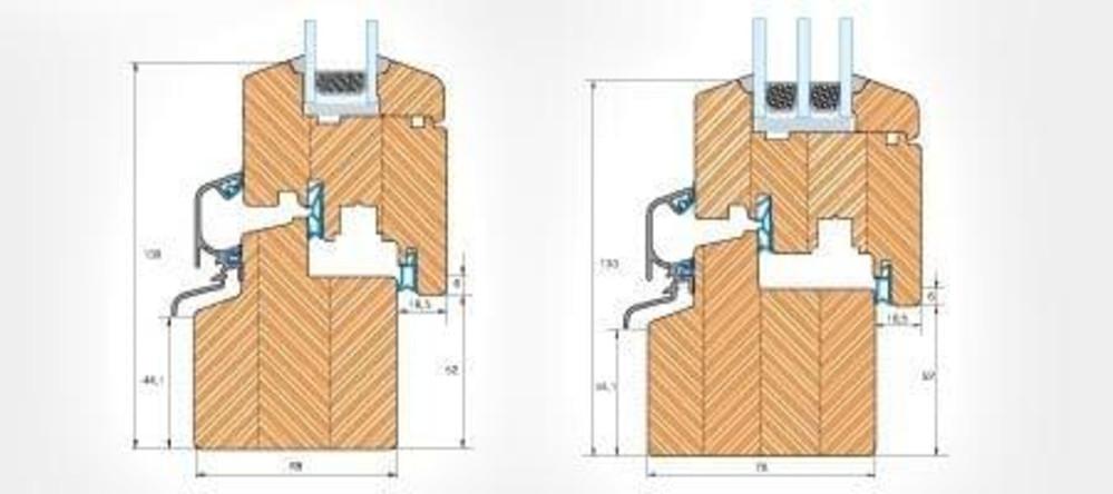croquis detaillés de portes-fenêtres en bois