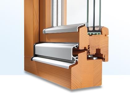 profilé d'une porte accordéon en bois