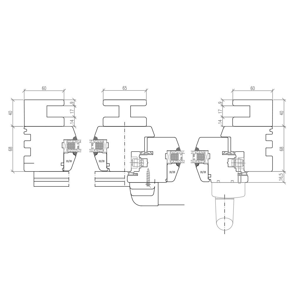 IV 68 - Baie avec volet intégré - Illustration horizontale