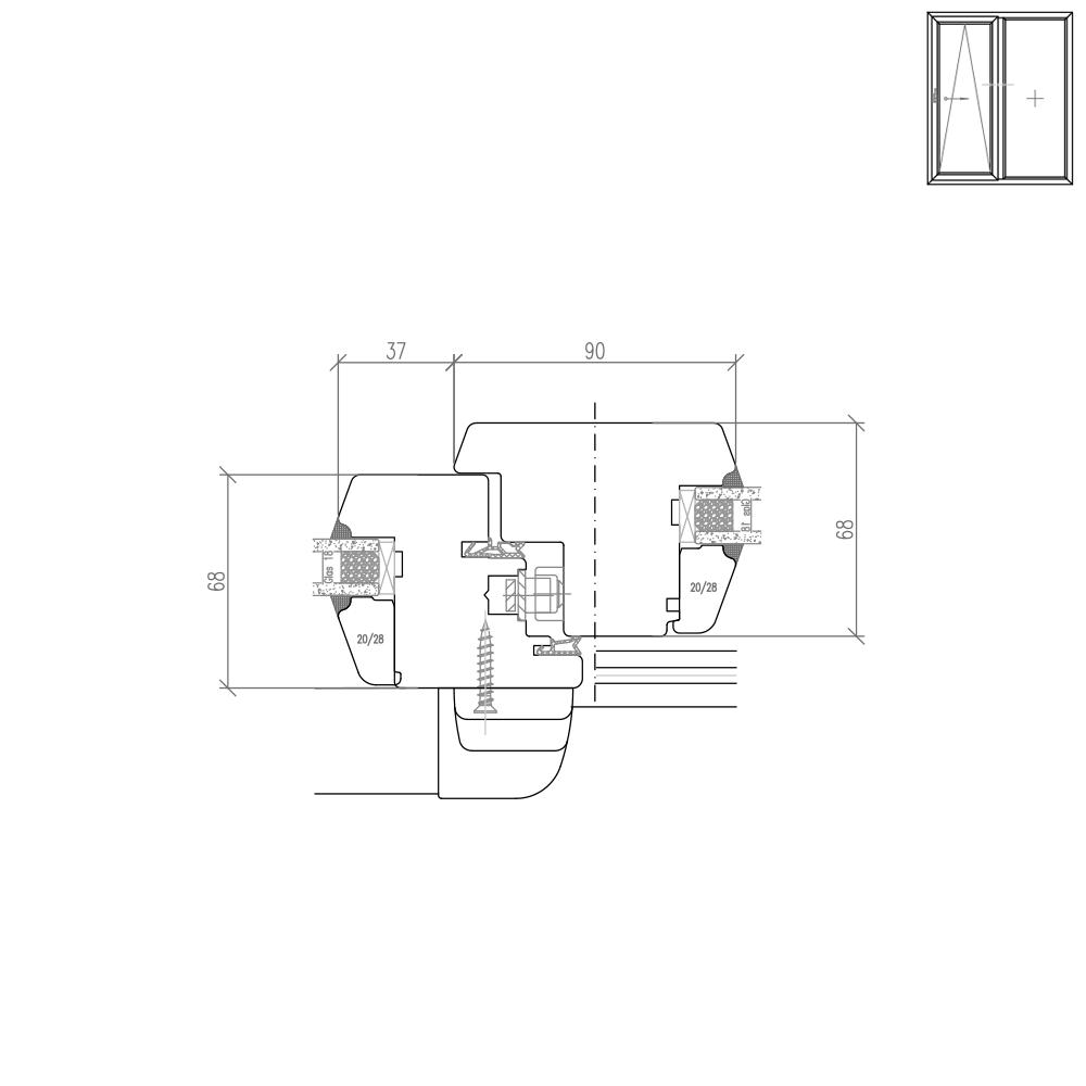 IV 68 - Illustration détaillée du meneau
