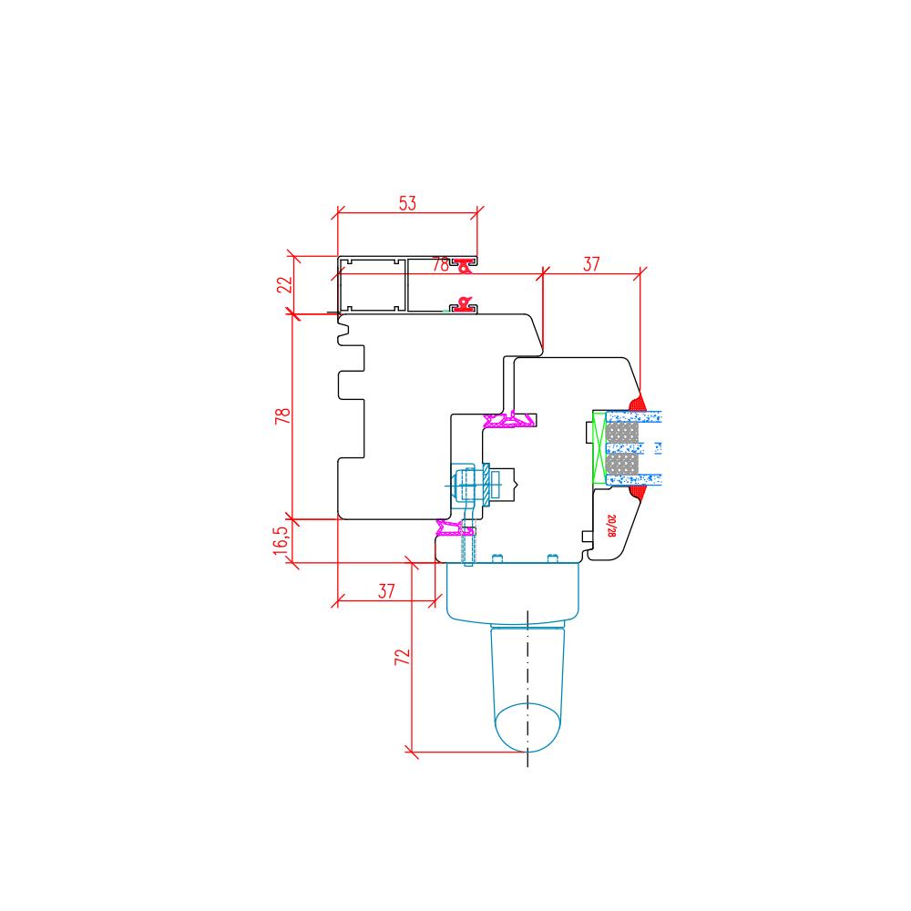 IV 78 - Baie avec rails de volet extérieur - Illustration horizontale