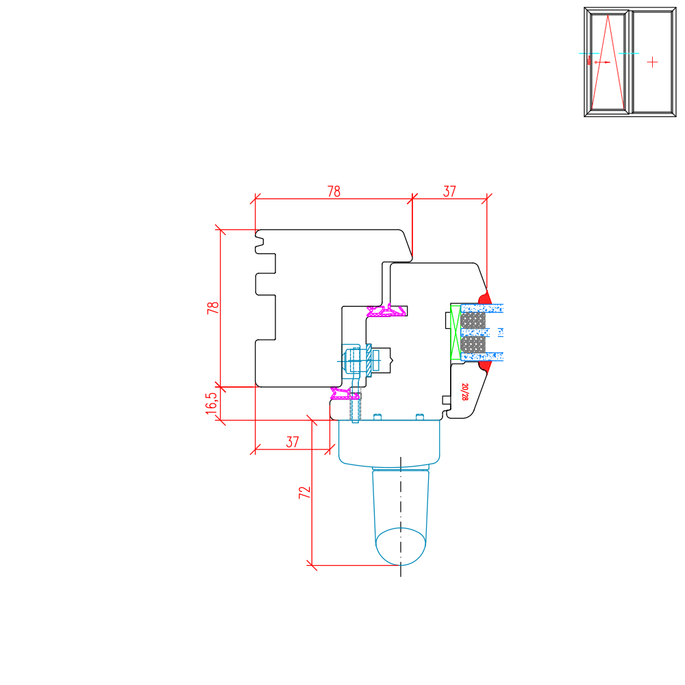 IV 78 - Illustration détaillée du côté de la poignée
