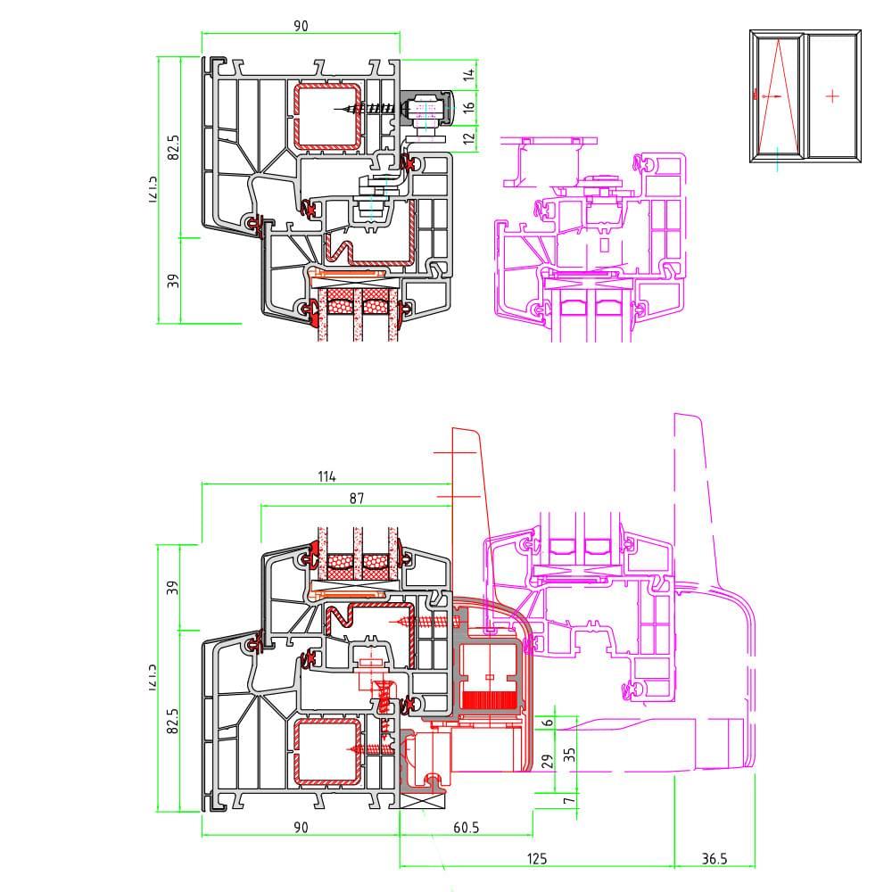 Baies vitrées PVC-alu sur mesure » prix pas cher | chez fenetre24.com™
