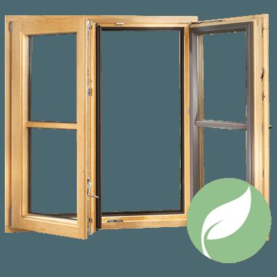 fenêtre mixte en bois-alu donatrice d'énergie