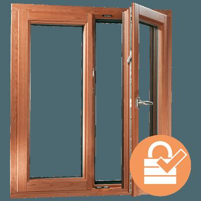 fenêtre mixte en bois-aluminium plus sécurisée