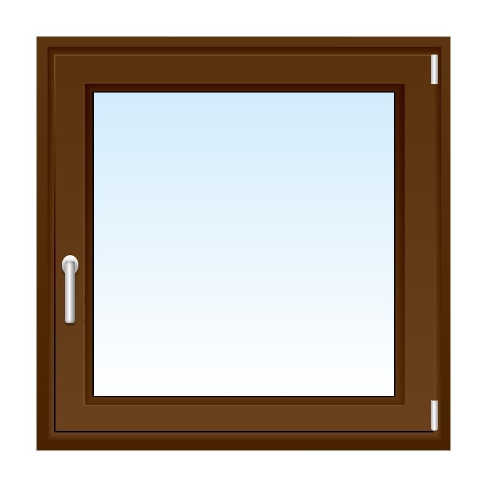 Fenêtre PVC brun 1 vantail