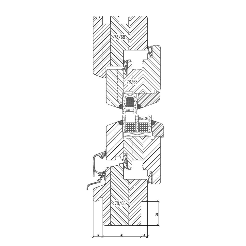 Profilé Bois Classic IV68 Fraisage de 30mm (nouveau bâtiment)