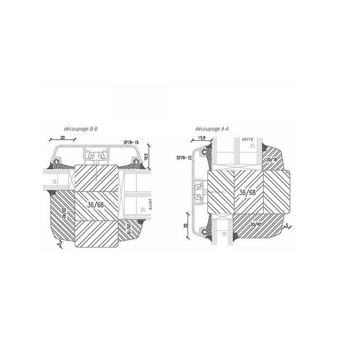 Fenêtre Bois-Aluminium Idealu avec vrais Croisillons 76mm