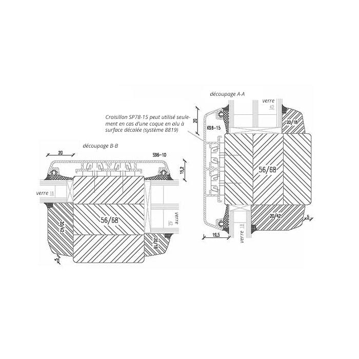 Fenêtre Bois-Aluminium Idealu avec vrais Croisillons 96mm