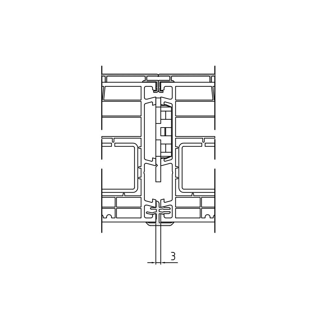 Ressort de couplage Twinset 90mm pour fenêtre mixte PVC-Alu