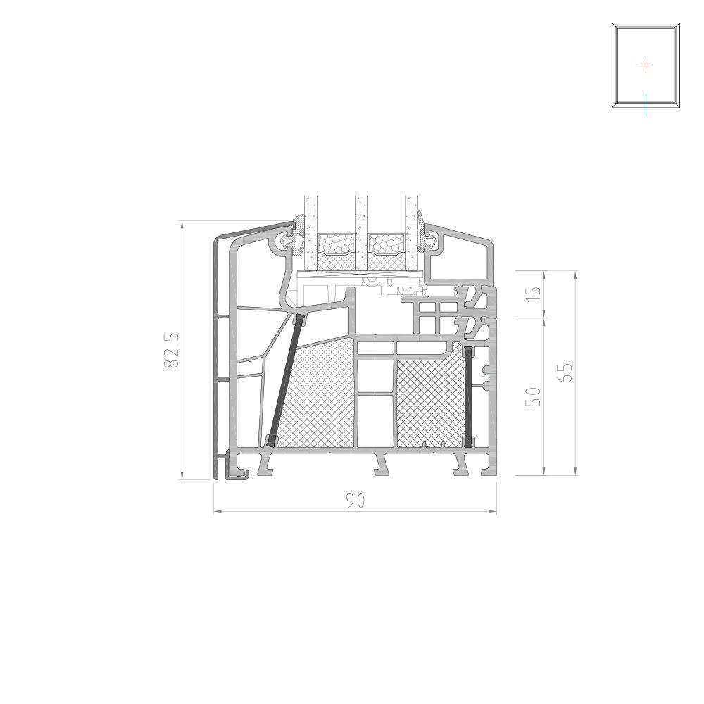 Twinset 8000ED vitrage fixe pour fenêtre mixte PVC-Alu