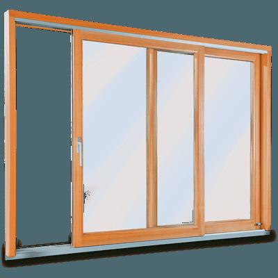 baie vitree mixte en bois-aluminium