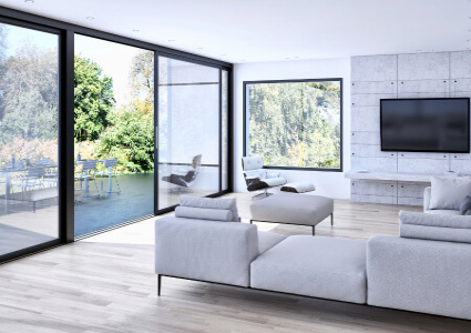 baie oscillo coulissante translation pvc sur mesure. Black Bedroom Furniture Sets. Home Design Ideas
