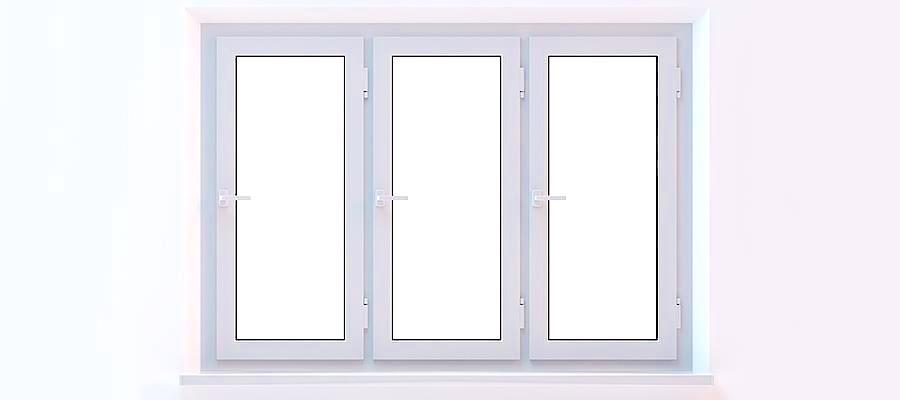 Fenêtre à 3 vantaux ouvrants