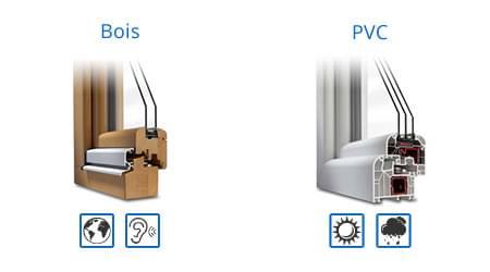 menuiserie en bois ou menuiserie en PVC
