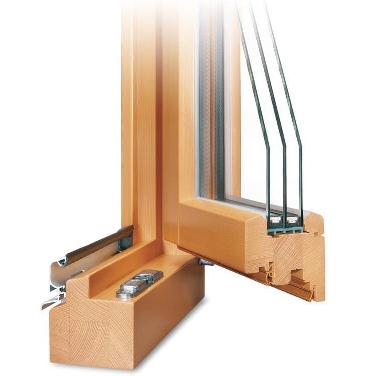 Profilé fenêtre Bois Classic 78 ouvert