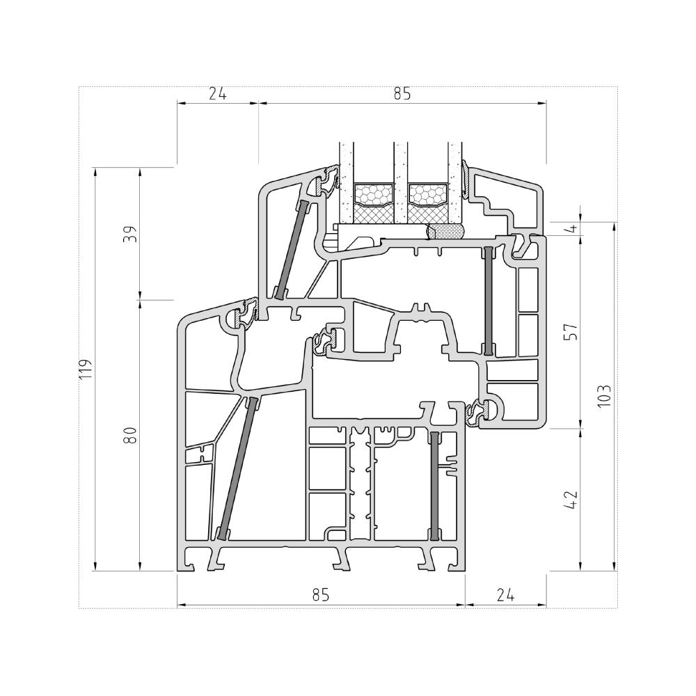Fen tre aluplast profil energeto 8000 ed for Fenetre pvc dwg