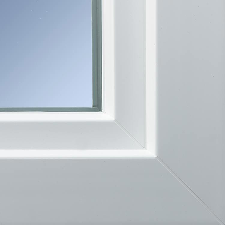Profilé PVC aluplast energeto® 8000ED vu de près