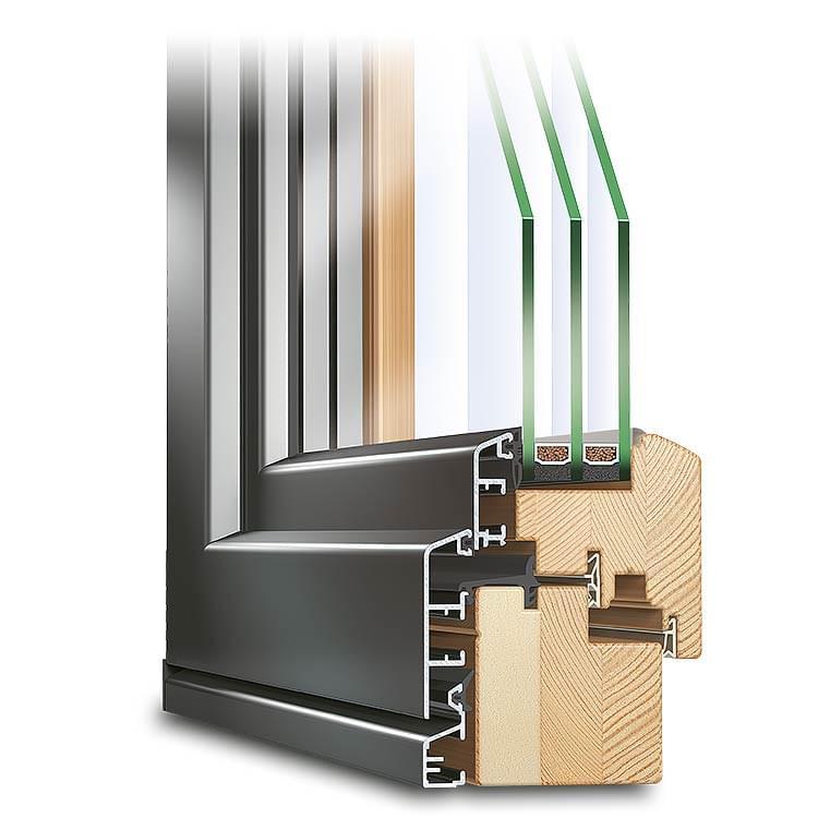 fen tre profil eco idealu classicline en bois alu. Black Bedroom Furniture Sets. Home Design Ideas