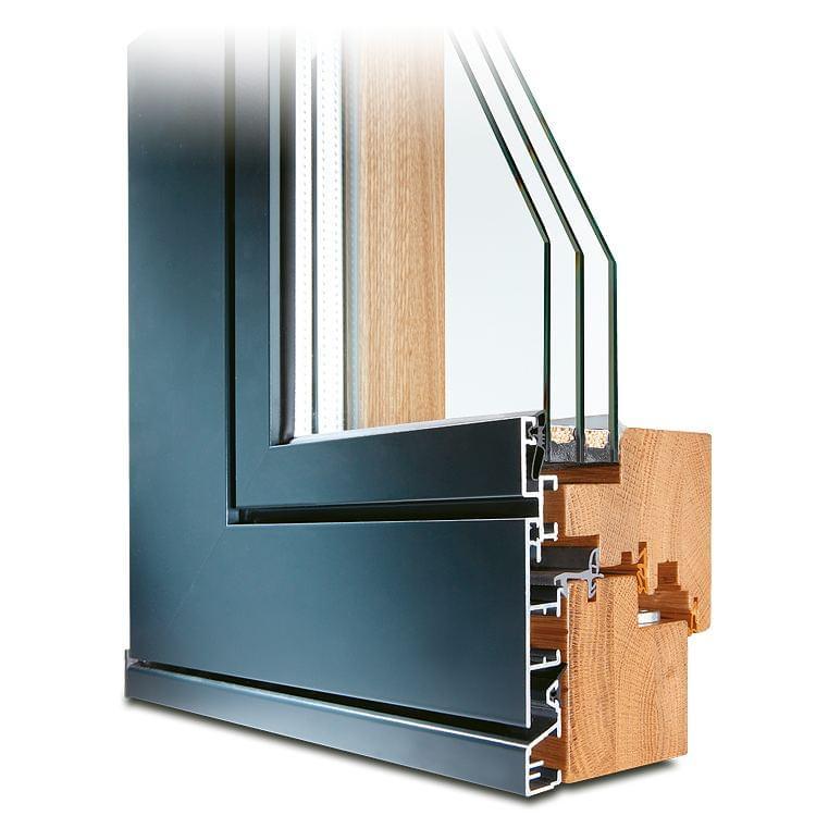 Fenêtre bois-alu Plano chêne