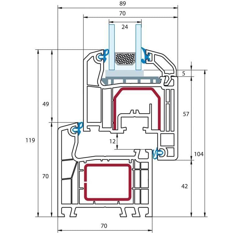 Fen tre pvc standard profil ideal 4000 for Dimension fenetre pvc