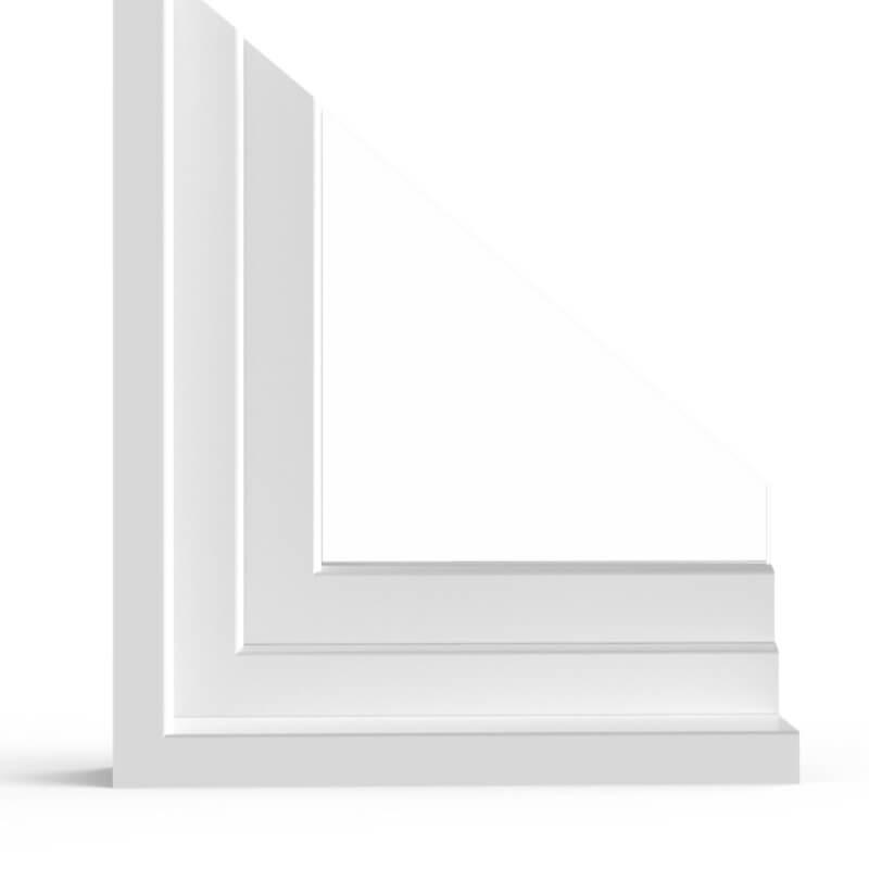 Détail du profilé PVC aluplast IDEAL® 4000 Monobloc
