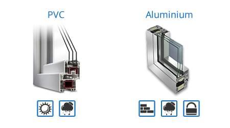 menuiserie en PVC ou menuiserie en aluminium