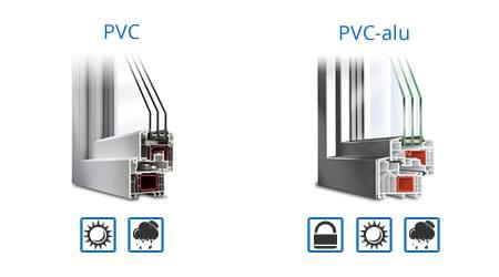 menuiserie en PVC ou menuiserie mixte PVC-aluminium