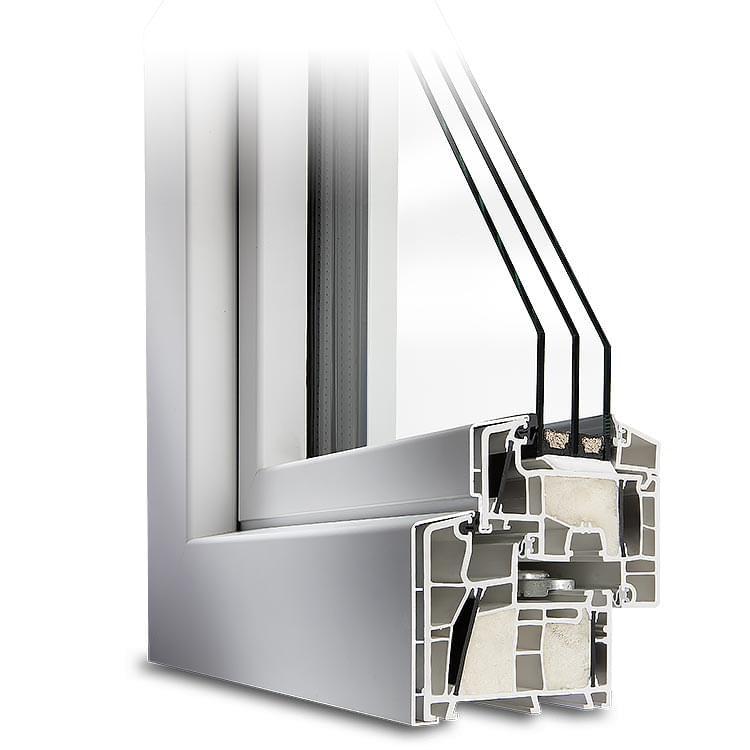 Profilé PVC-Alu aluplast Twinset® 8000ED blanc