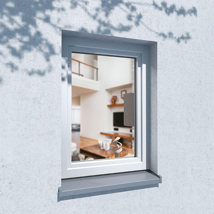 Situation de pose d'une fenêtre en PVC aluplast energeto® 8000ED