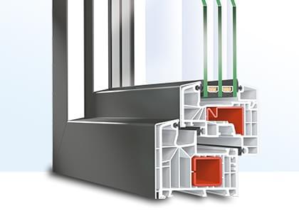 profilé de fenêtre en pvc-aluminium