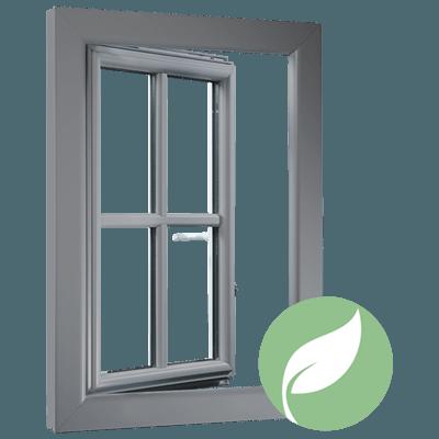 fenêtre mixte en PVC-alu donatrice d'énergie