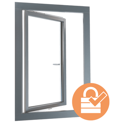 fenêtre mixte en PVC-aluminium plus sécurisée