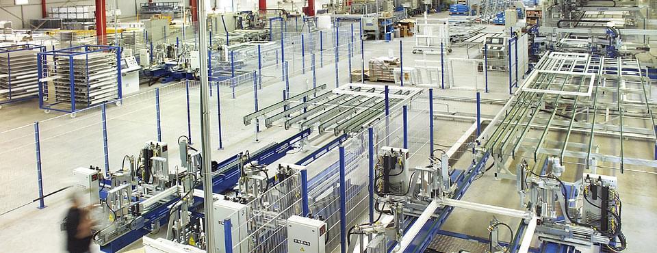 Notre production de fenêtre PVC – salle de production