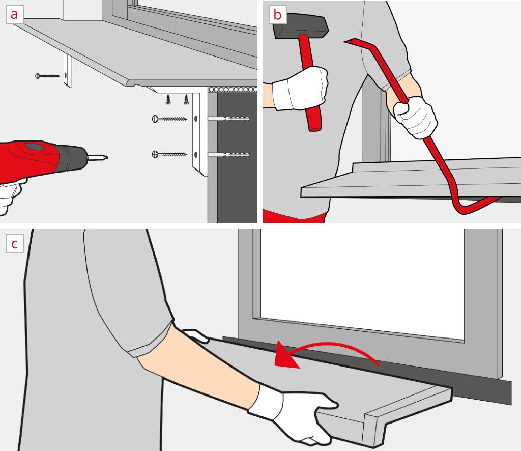 Changer un appui de fen tre int rieur ext rieur for Tablette pour fenetre interieur