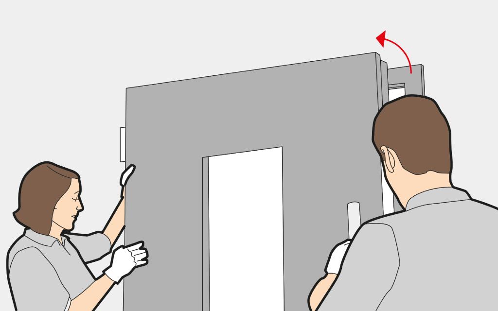 Pose porte d 39 entr e simple pratique en 7 pas - Montage porte d entree ...