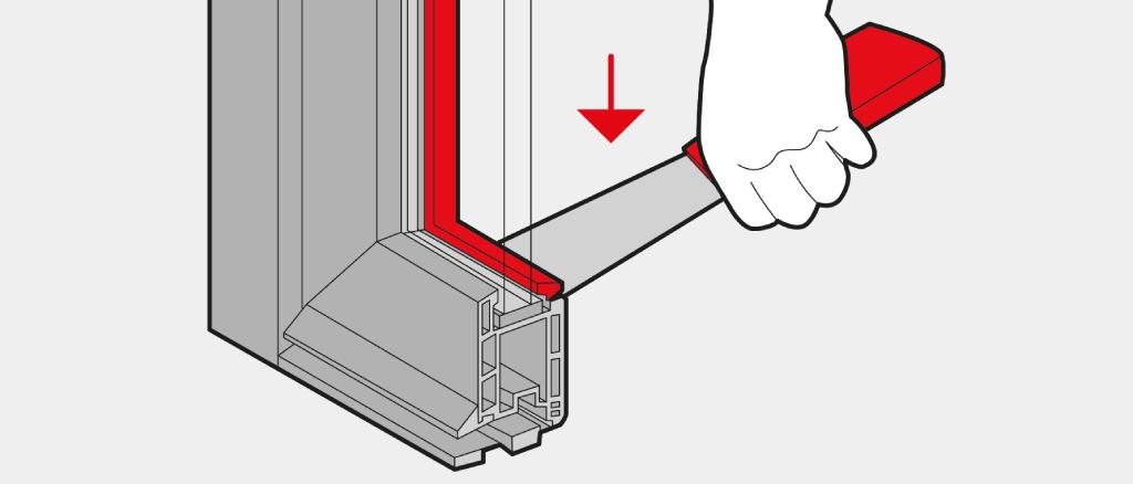 Enlever la Parclose de la Porte soulevant-coulissante avec une Spatule