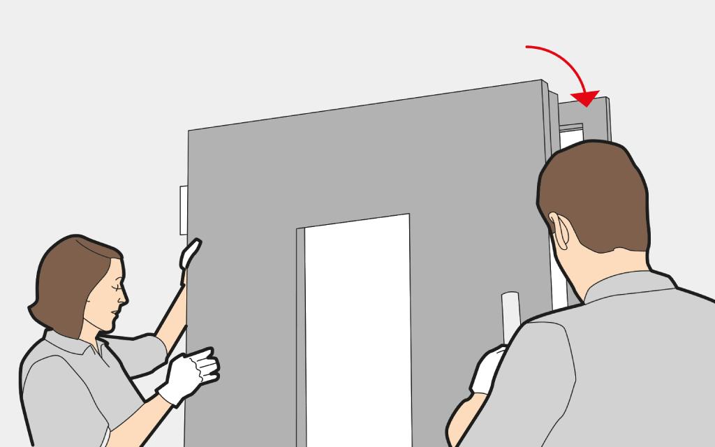 Accrocher et fixer une Porte d'Entrée