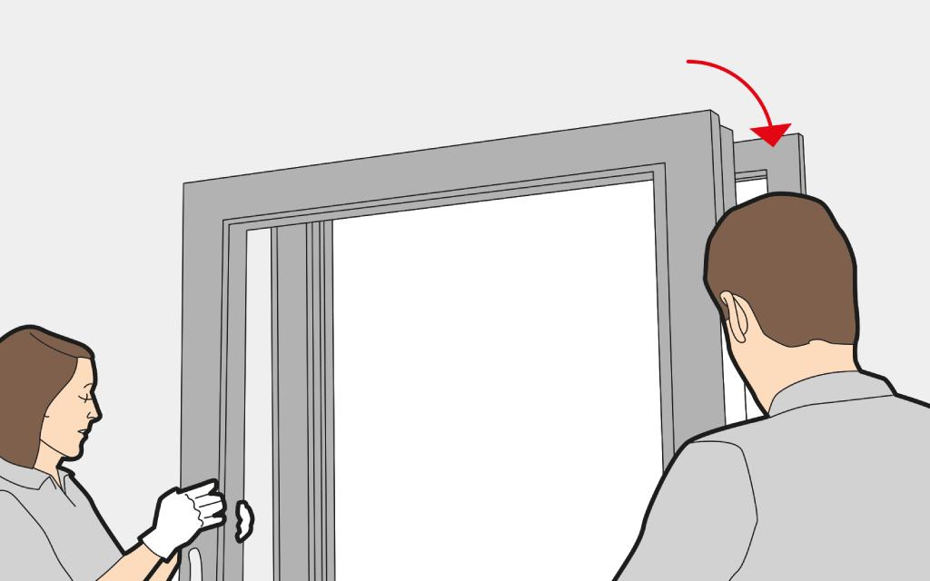 Insérer un vantail de porte d'entrée