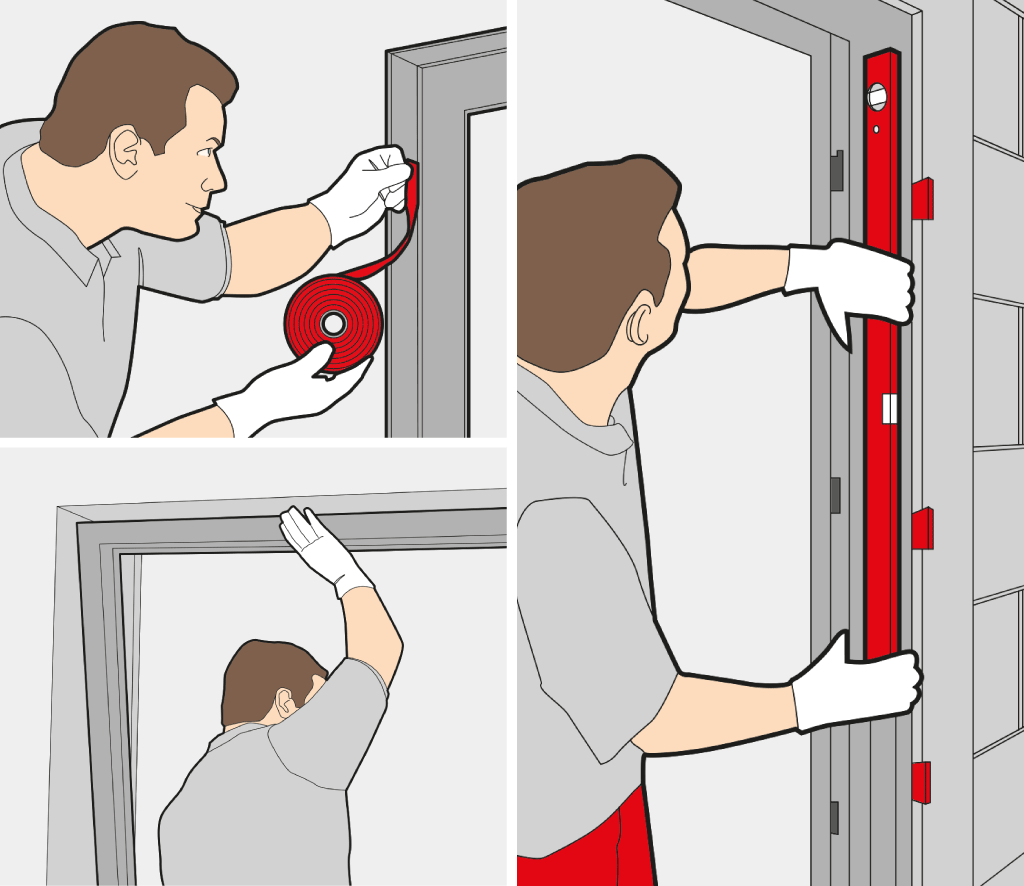 Installer porte d'entrée