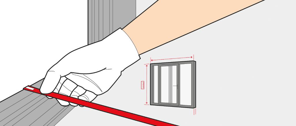 Mesurer une Porte soulevant-coulissante