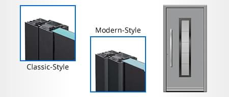Profilé de porte d'entrée - matériau Aluminium