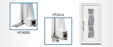 Profilé de porte d'entrée - matériau PVC