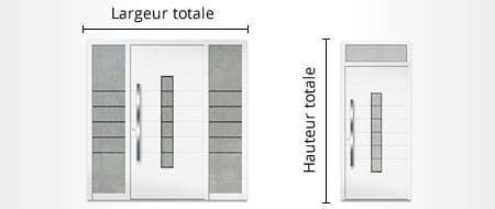 Configurateur de portes d 39 entr e configurer acheter en ligne - Dimension porte d entree standard ...
