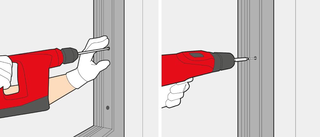 Visser le Cadre de la Porte d'Entrée contre le Mur