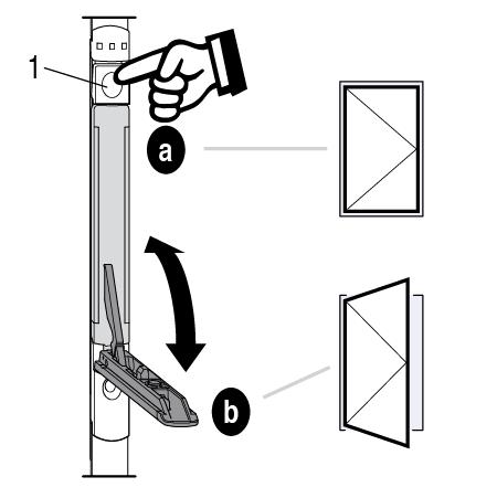 Utilisation du système de verrouillage de la fenêtre à ouvrant semi-fixe