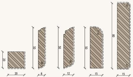 couvres-joints en bois