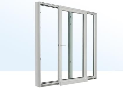 baie vitrée en pvc aluminium