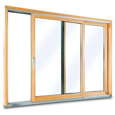 Porte-Fenêtre en Bois-Alu avec  2 Vantaux