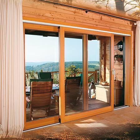 Porte-Fenêtre en Bois avec 2 Vantaux
